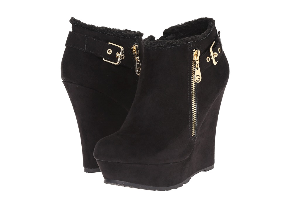 G by GUESS - Poet (Black/Black Camoscio Suede) Women