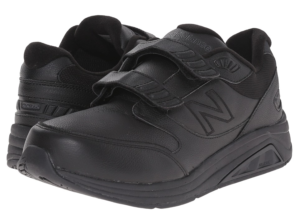 New Balance - MW928v2 Hook-and-Loop (Black) Men's Walking Shoes