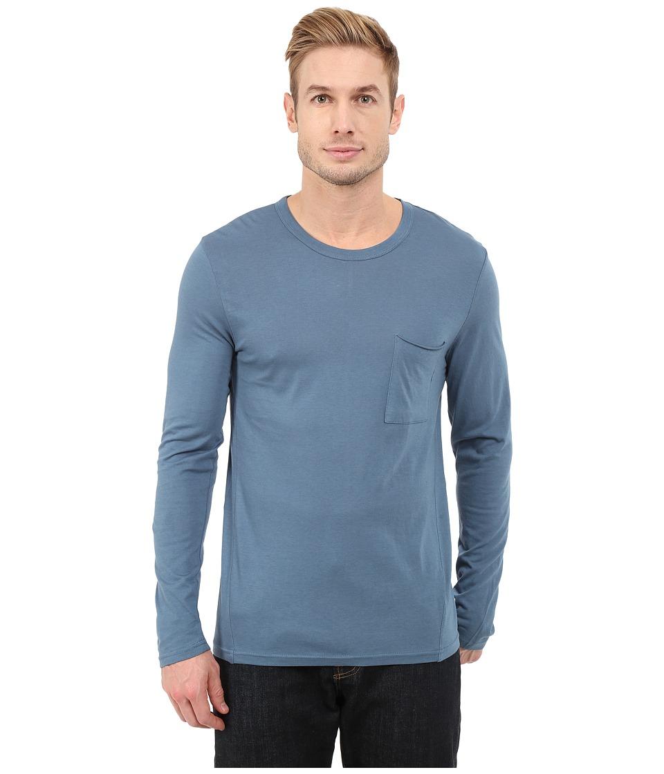 Alternative - Cotton Modal Fatigued T-Shirt (Blue Ash) Men's T Shirt