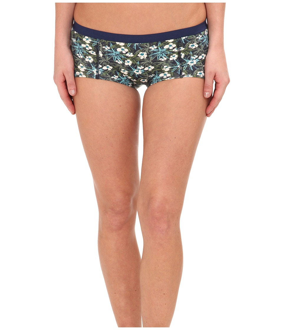 PACT - Tropical Ditsy Boyshorts (Blue) Women's Underwear