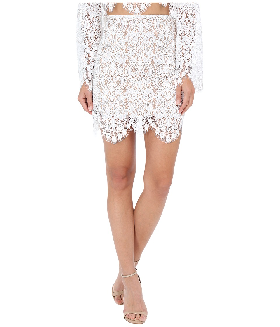 For Love and Lemons - Vika Mini Skirt (Ivory) Women's Skirt
