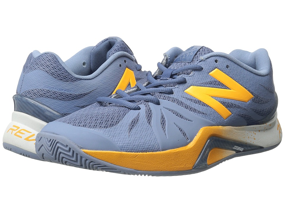 New Balance - WC1296v2 (Grey/Yellow) Women's Tennis Shoes