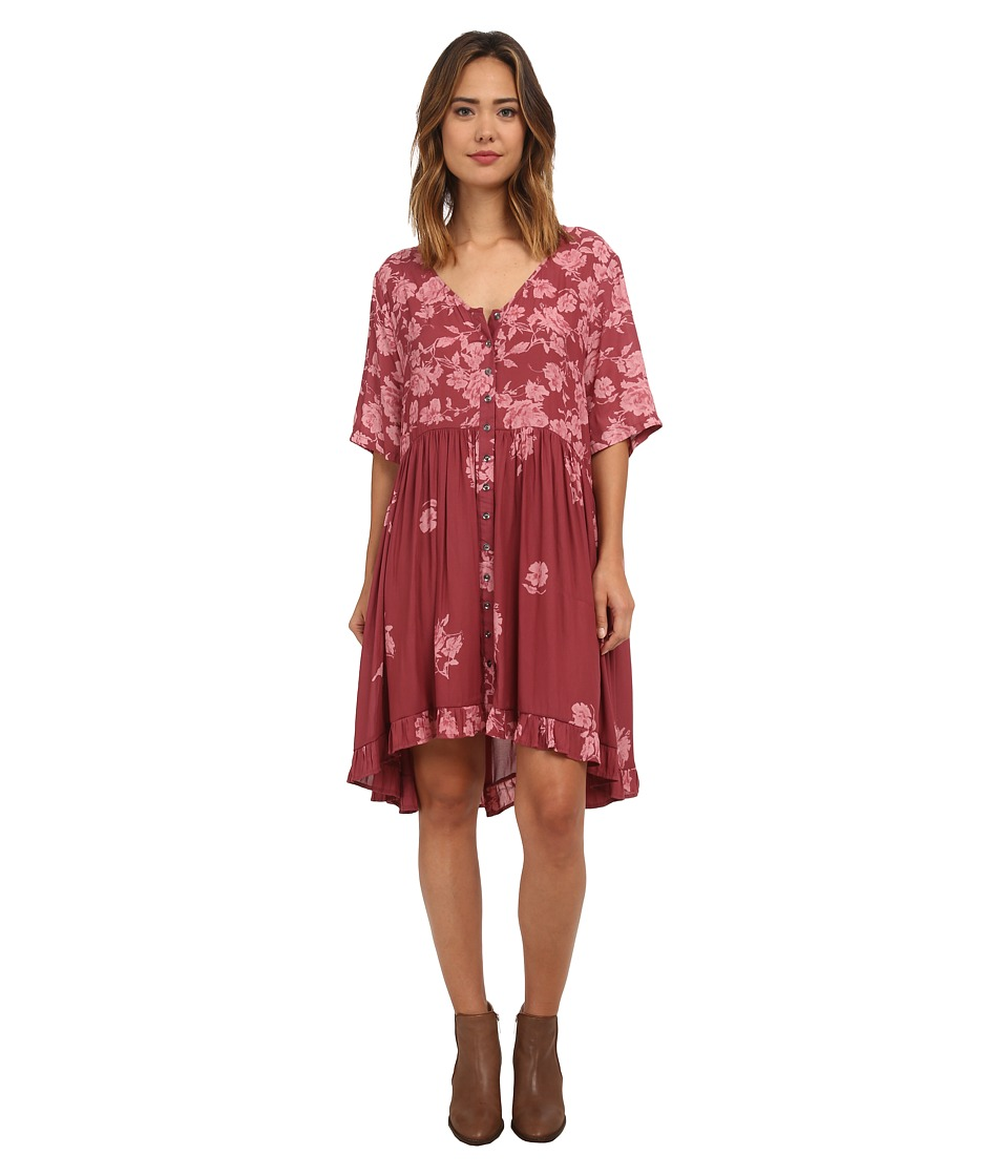 Free People - Road Trippin Dress (Berry Combo) Women's Dress