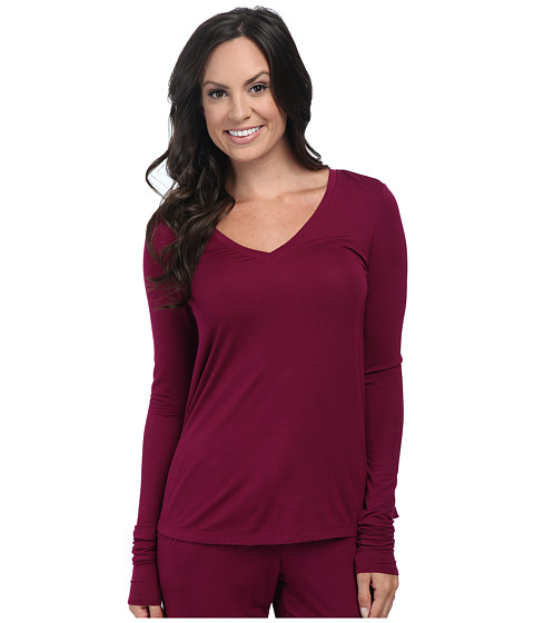 Josie - Tees Swing Long Sleeve Top (Bordeaux) Women