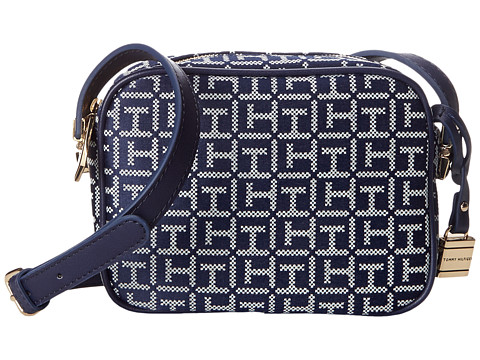Tommy Hilfiger - TH Hinge Mini Crossbody (Navy/White) Cross Body Handbags
