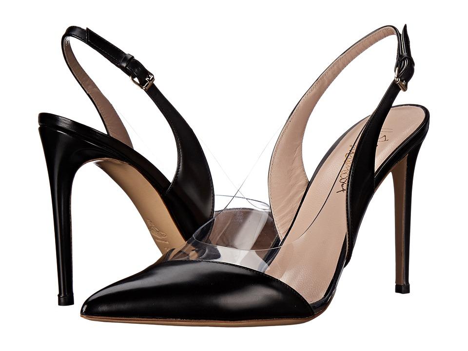 Vivienne Westwood Caruska Slingback (Black/Clear) High Heels