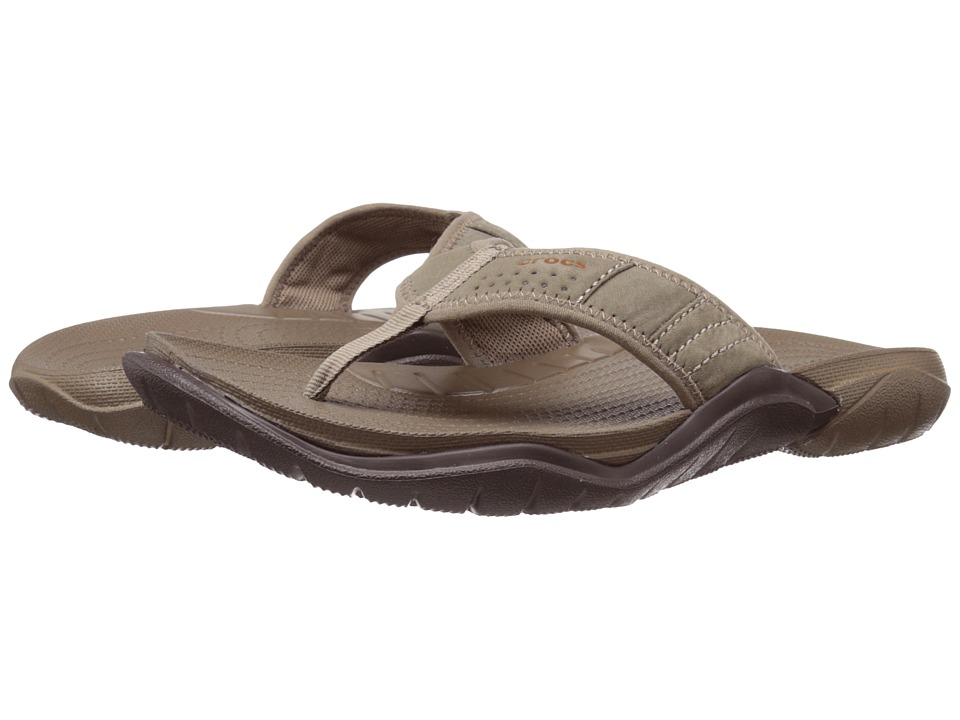 Crocs - Swiftwater Flip (Walnut/Espresso) Men