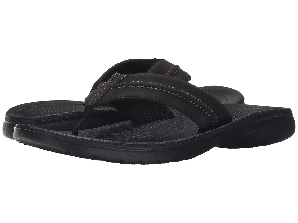 Crocs - Yukon Mesa Flip (Black/Black) Men's Slide Shoes