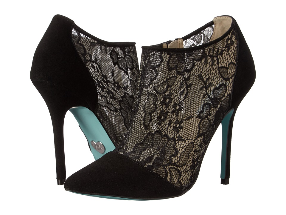 Blue by Betsey Johnson Lola (Black Lace) High Heels