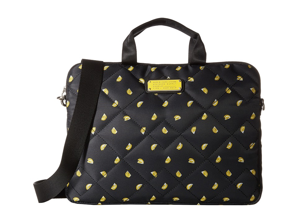 Marc by Marc Jacobs - Crosby Quilt Fruit Tech 13 Commuter Bag (Lemon Print) Computer Bags