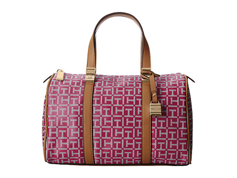 Tommy Hilfiger - TH Satchel (Raspberry/White) Satchel Handbags