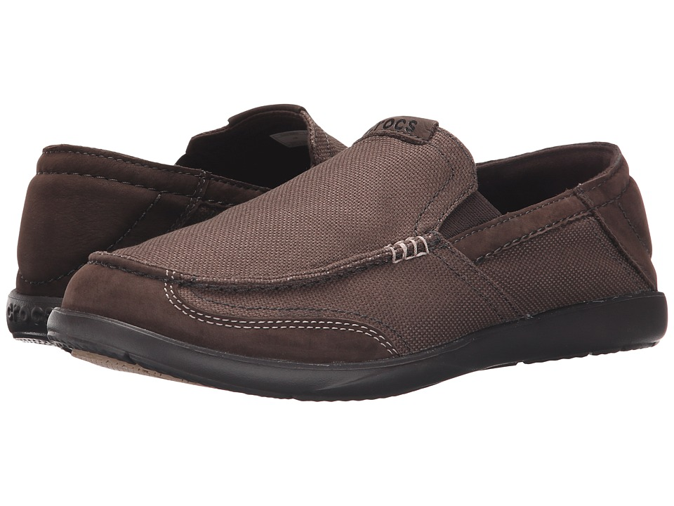 Crocs - Walu Luxe Canvas (Espresso/Espresso) Men's Shoes