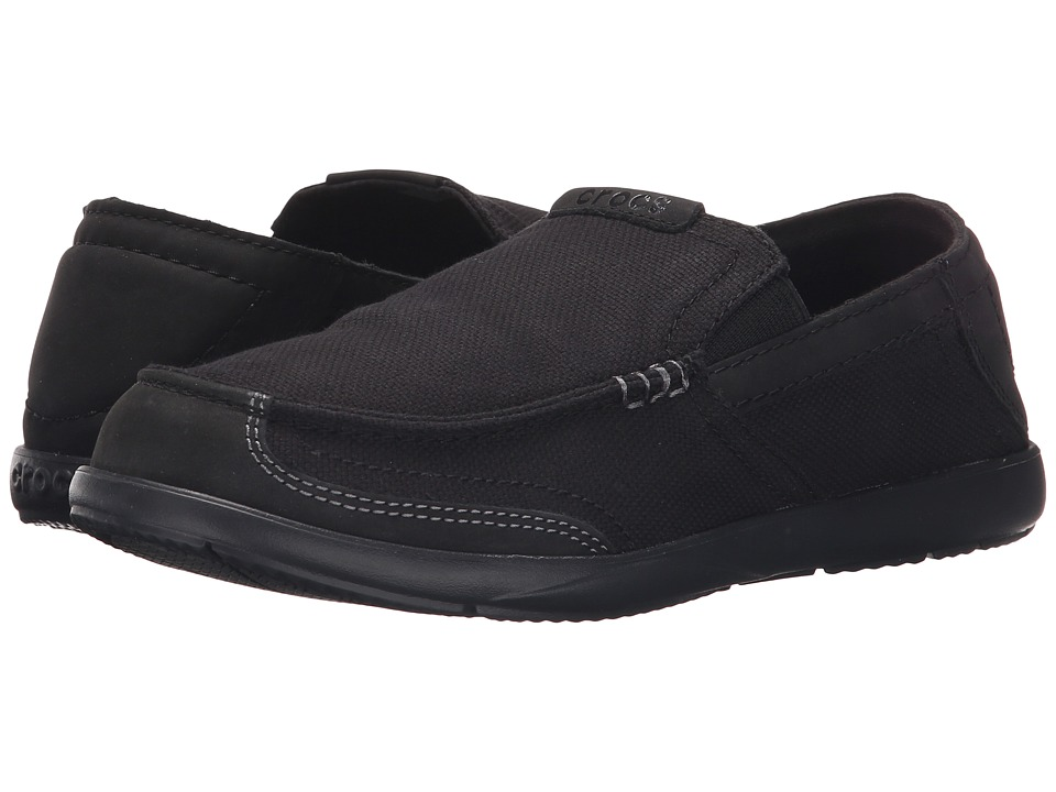 Crocs - Walu Luxe Canvas (Black/Black) Men