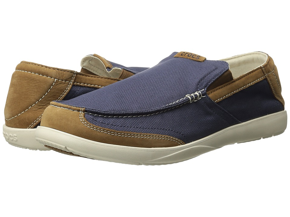 Crocs - Walu Luxe Canvas (Navy/Stucco) Men's Shoes