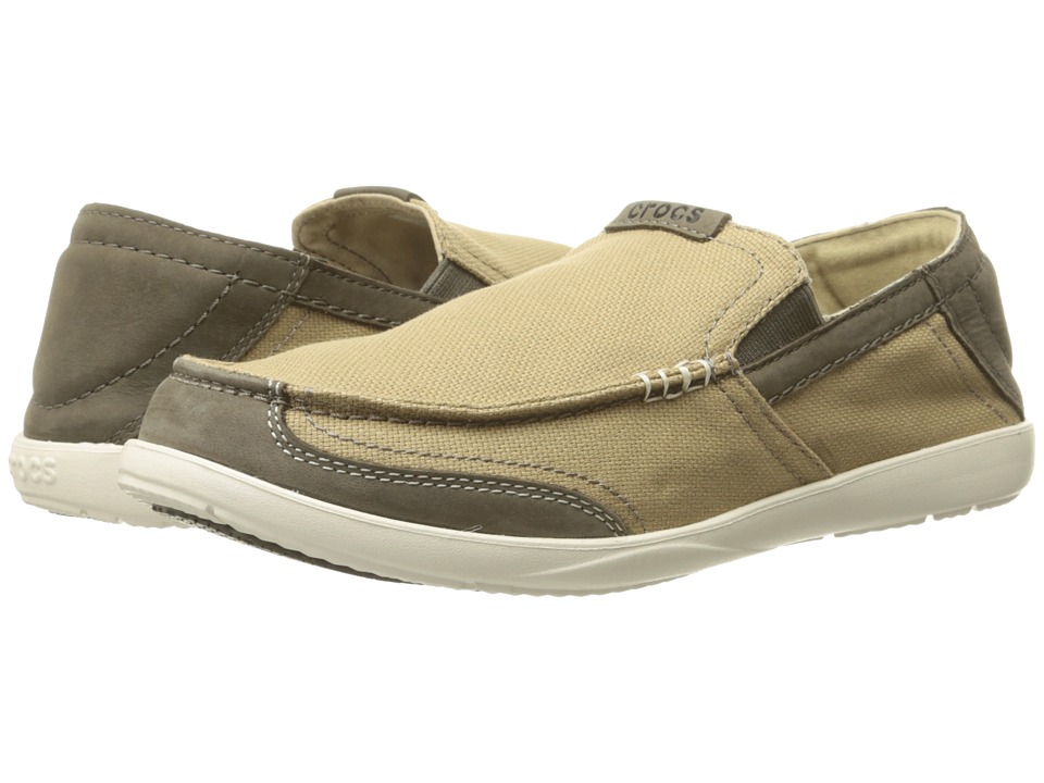 Crocs - Walu Luxe Canvas (Khaki/Mushroom) Men