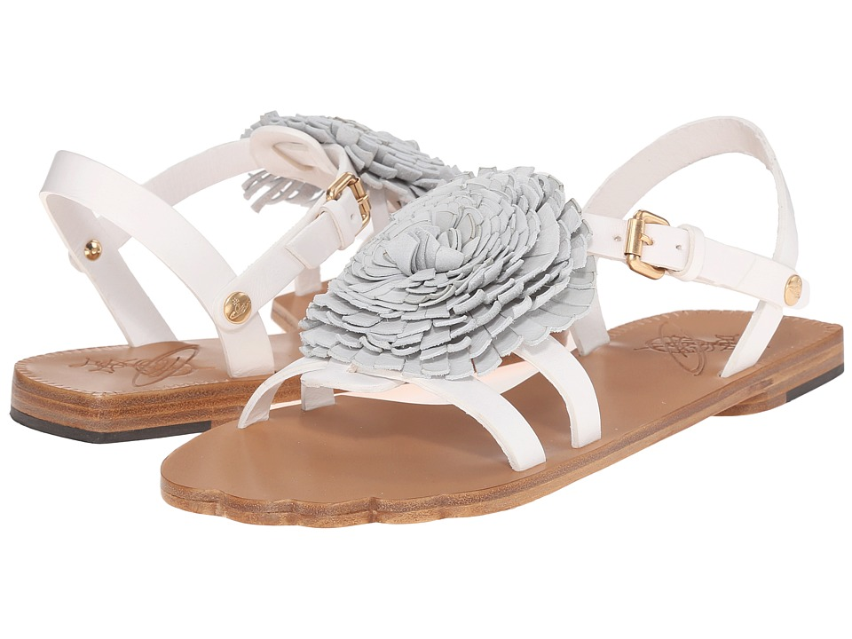 Vivienne Westwood - Animal Toe Flat Sandal (White) Women's Sandals