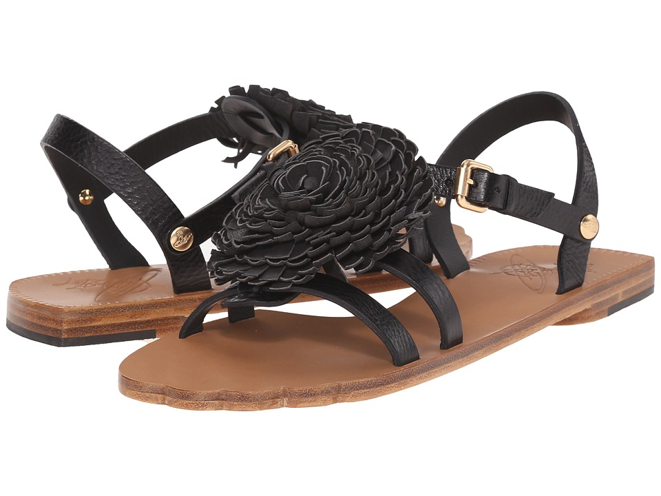 Vivienne Westwood - Animal Toe Flat Sandal (Black) Women's Sandals