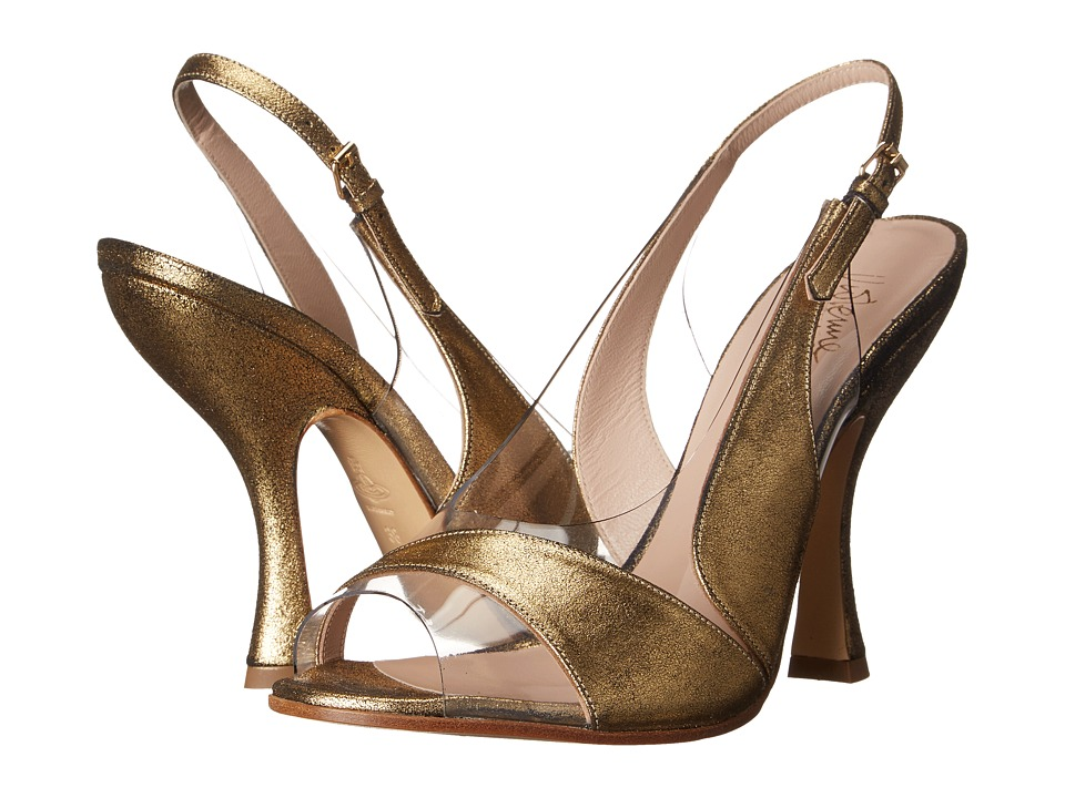 Vivienne Westwood - Betty Slingback Sandal (Gold/Transparent) High Heels