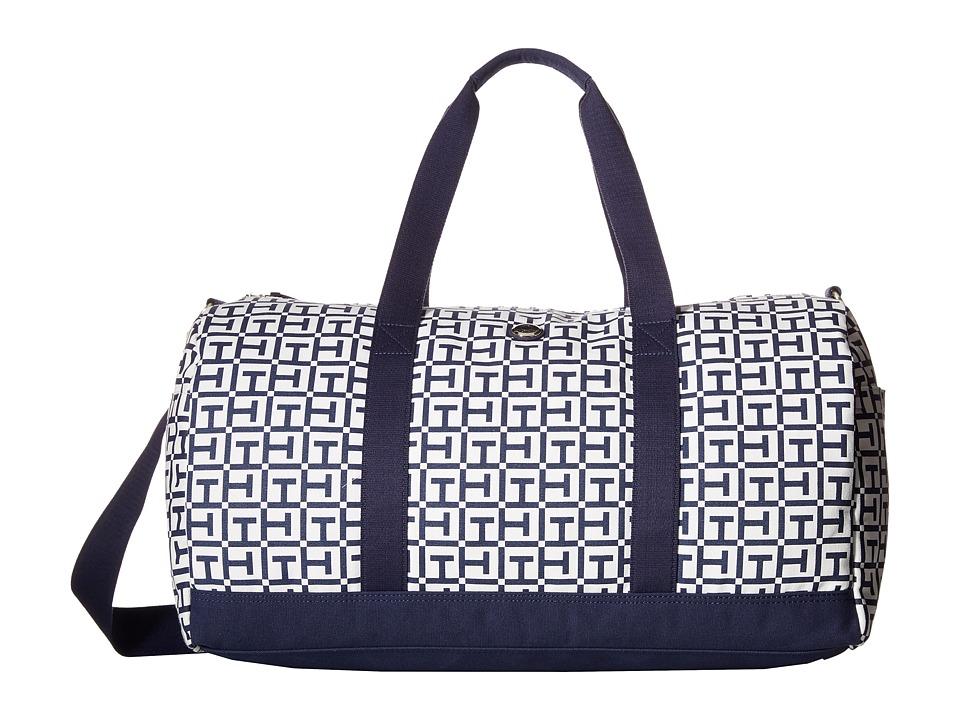 Tommy Hilfiger - TH Medium Duffel (White/Navy) Duffel Bags