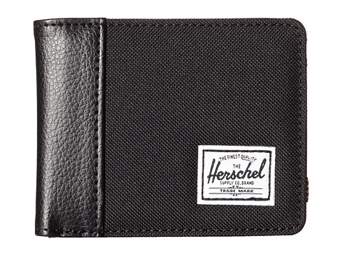 Herschel Supply Co. - Edward (Black/Black Pebbled Synthetic Leather) Bi-fold Wallet
