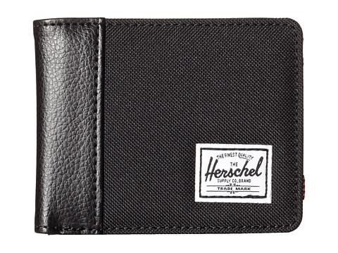Herschel Supply Co. - Edward (Black/Black Pebbled Synthetic Leather) Bi-fold Wallet
