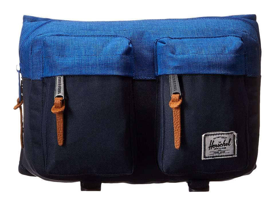 Herschel Supply Co. - Eighteen (Navy/Cobalt Crosshatch) Travel Pouch