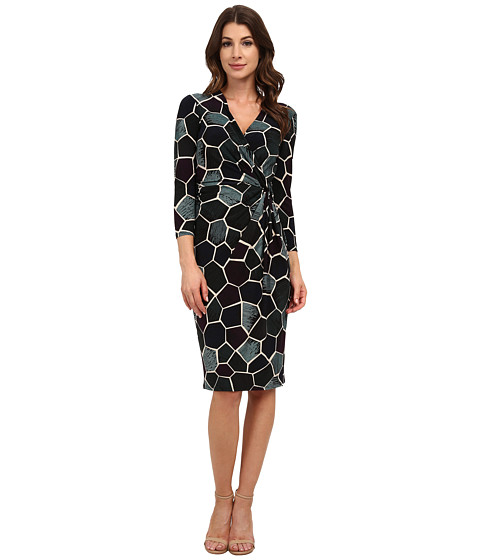 Anne Klein - Printed Jersey Draped Dress (Phoenix Combo) Women