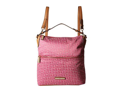 Tommy Hilfiger - Kimberly Hobo Backpack (Raspberry/White) Backpack Bags