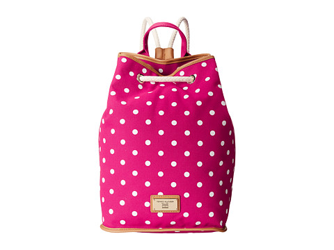 Tommy Hilfiger - Pheobe Sling Backpack (Raspberry/White) Backpack Bags