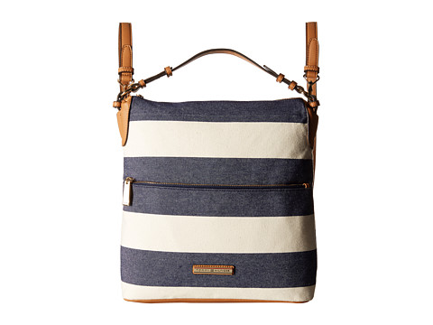 Tommy Hilfiger - Kimberly Hobo Backpack (Navy/Natural) Backpack Bags