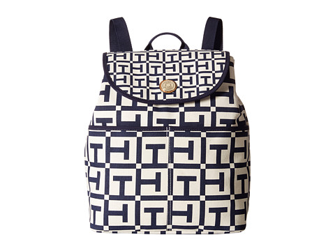 Tommy Hilfiger - Portland Backpack (Natural/Navy) Backpack Bags