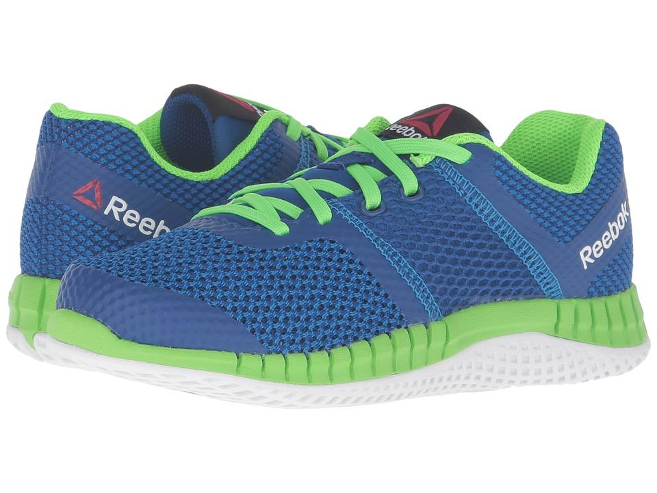 Reebok Kids - Zprint Run (Little Kid/Big Kid) (Blue Sport/Collegiate Royal/Solar Green/White) Girls Shoes