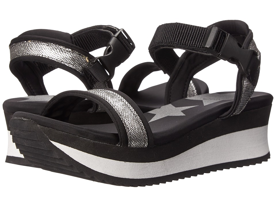 Dirty Laundry - Gung (Black/Silver) Women's Sandals