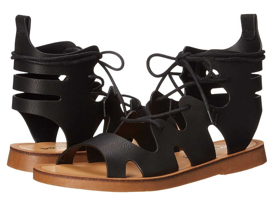 Dirty Laundry Bevelled Lace Up Sandal (Black) Women