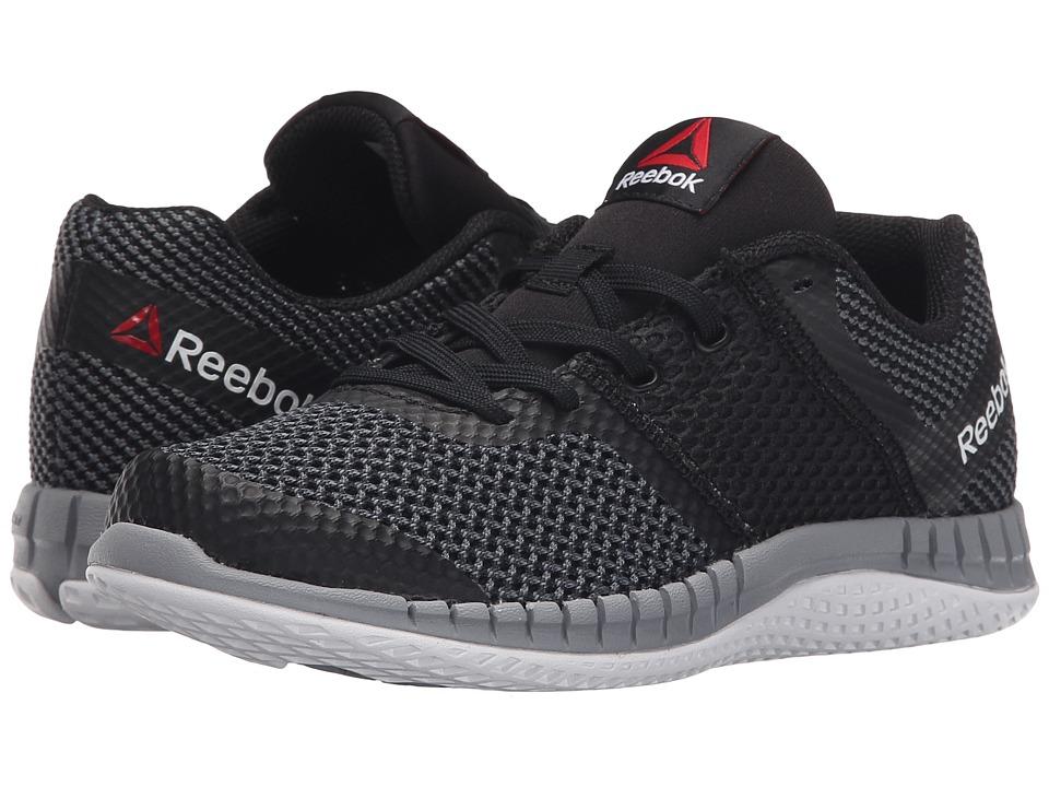 Reebok Kids - Zprint Run (Little Kid/Big Kid) (Black/Gravel/Tin Grey/Black Reflective/White) Boys Shoes