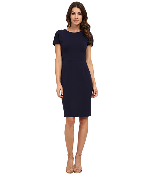 Anne Klein - Topstitch Cap Sleeve Dress (Atlas Blue) Women's Dress
