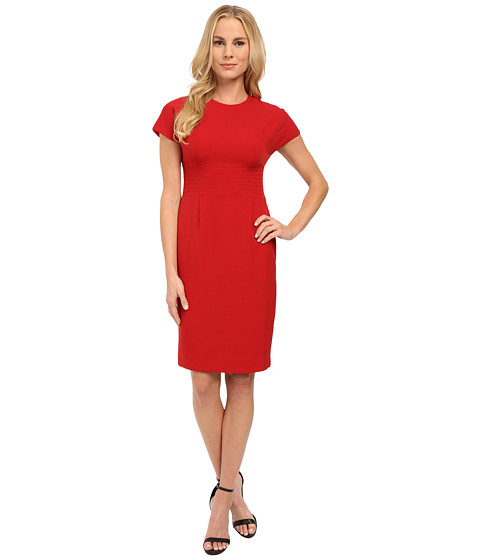 Anne Klein - Topstitch Cap Sleeve Dress (Titian Red) Women