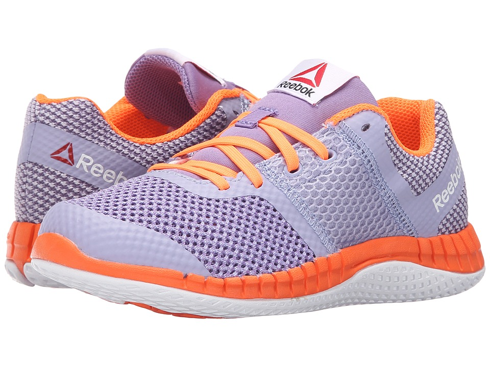 Reebok Kids - Zprint Run (Little Kid/Big Kid) (Moon Violet/Smoky Violet/Electric Peach/White) Girls Shoes