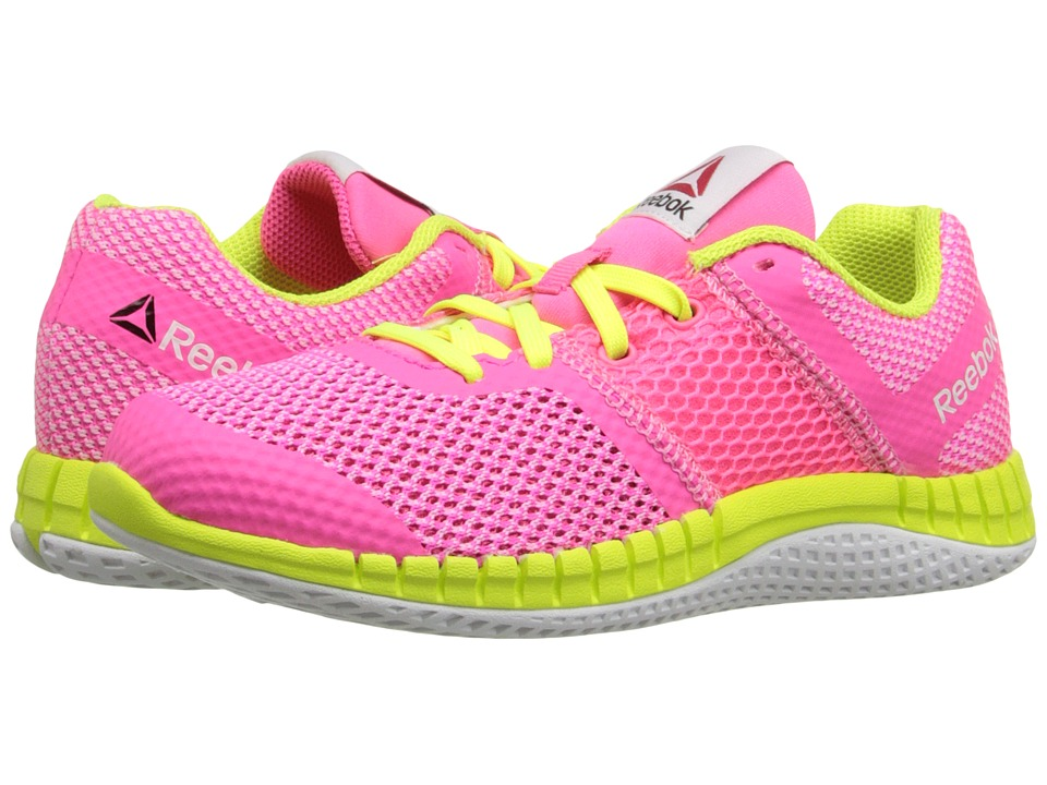 Reebok Kids - Zprint Run (Little Kid/Big Kid) (Solar Pink/Icono Pink/Solar Yellow/White) Girls Shoes