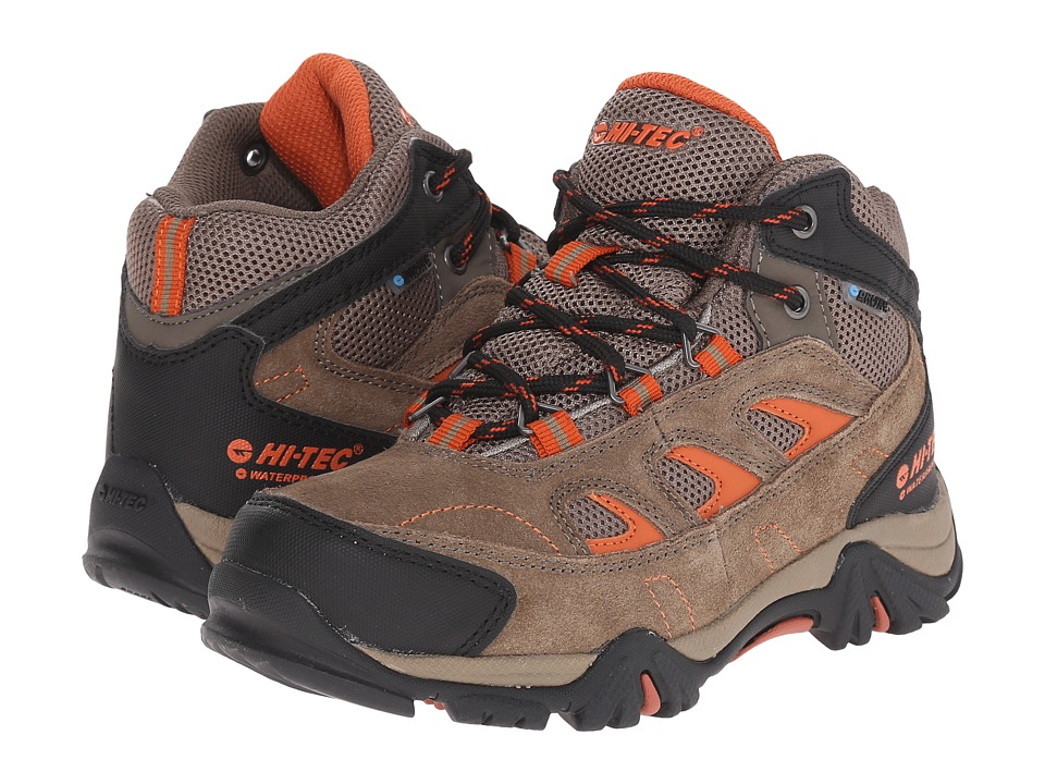 Hi-Tec Kids - Logan Waterproof Jr (Toddler/Little Kid/Big Kid) (Smokey Brown/Red Rock) Kids Shoes