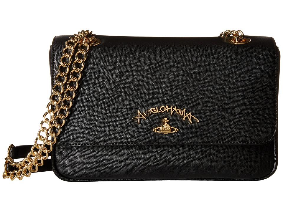 Vivienne Westwood - Braccialini Divina Bags Flap (Black) Bags