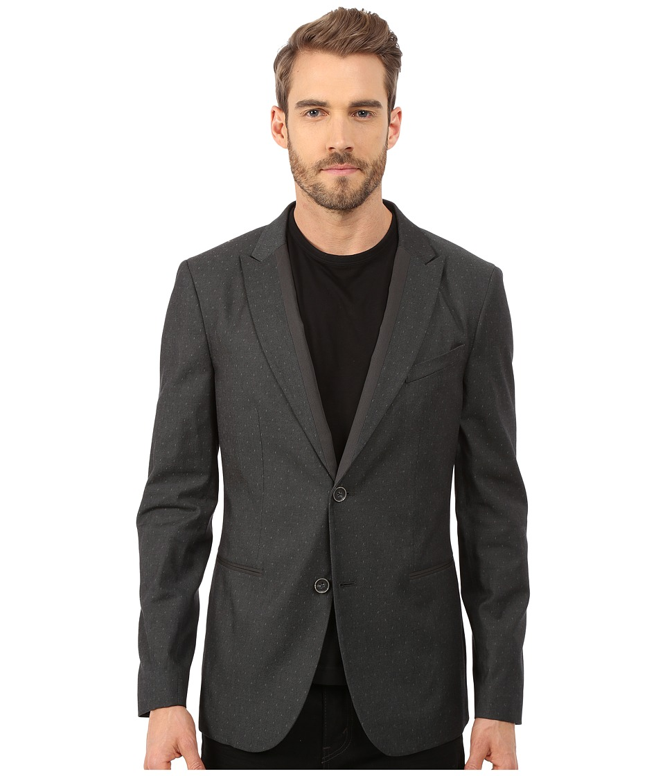 John Varvatos Star U.S.A. - Two Button Peak Lapel Soft Jacket JVS1275L (Typhoon Grey) Men's Coat