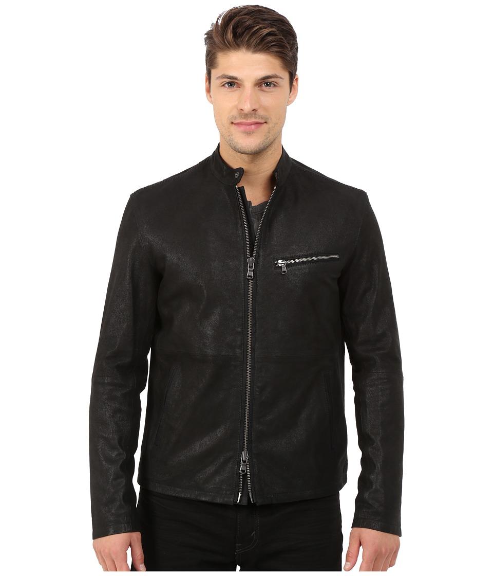 John Varvatos Star U.S.A. - Leather Racer Jacket L936R4B (Black) Men's Coat