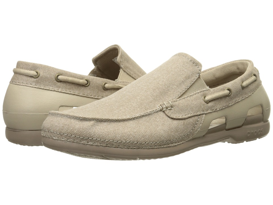 Crocs - Beach Line Canvas Slip-On (Cobblestone/Tumbleweed) Men