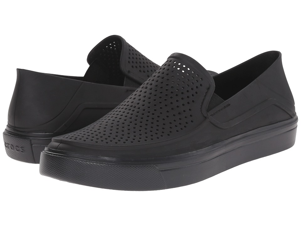 Crocs - CitiLane Roka Slip-On (Black/Black) Men's Slip on Shoes
