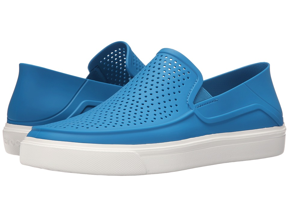 Crocs - CitiLane Roka Slip-On (Ultramarine/White) Men's Slip on Shoes