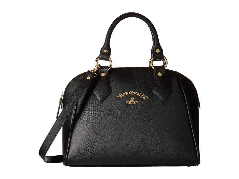 Vivienne Westwood - Braccialini Divina Bags Bugatti (Black) Satchel Handbags