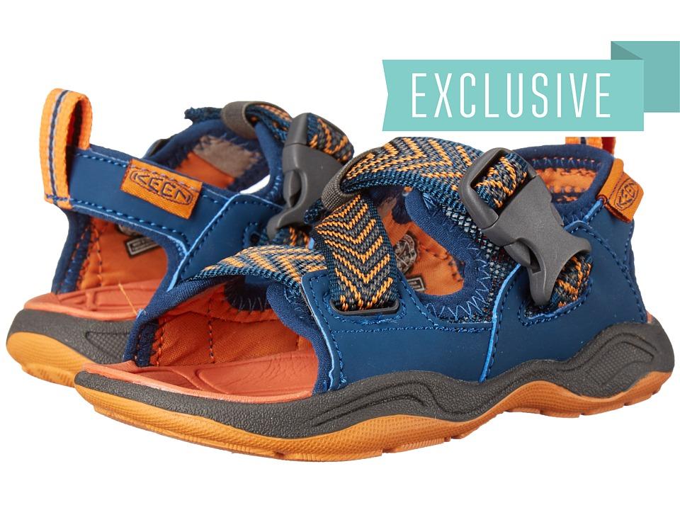 Keen Kids - Rock Iguana (Toddler/Little Kid) (Poseidon/Orange Ochre) Boy's Shoes