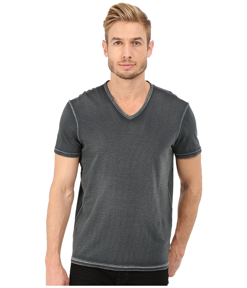 John Varvatos Star U.S.A. - Short Sleeve Knit V-Neck K677R4B (Graphite) Men's T Shirt