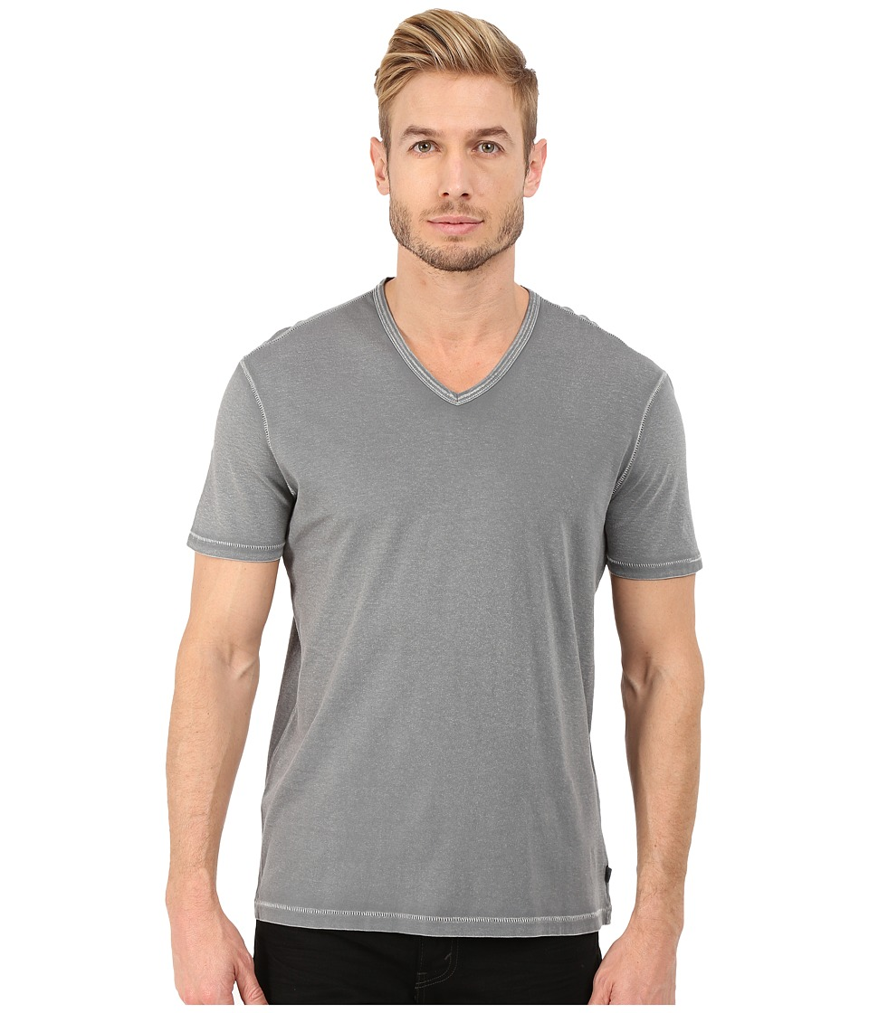 John Varvatos Star U.S.A. - Short Sleeve Knit V-Neck K677R4B (Cast Iron) Men's T Shirt